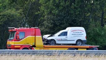 Trafikolycka på E6 – En till sjukhus