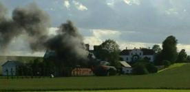 Brand i garage i Tågarp