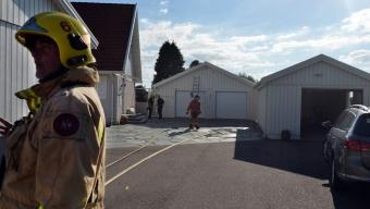 Brand i garage i Glumslöv