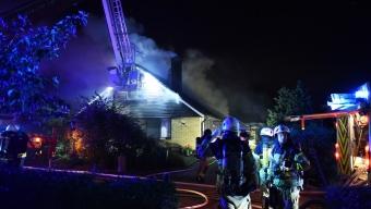 Kraftig villabrand i Löddeköpinge