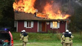 Klubbstuga i Röstånga brann ner