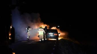 Bilbrand vid Aspan
