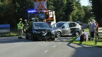 Trafikolycka på Söderåsen