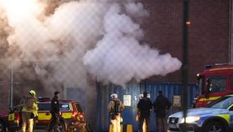 Misstänkt brand på Yara