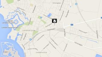 Bilbrand på Östergatan