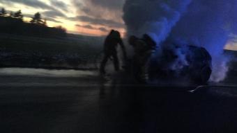 Bilbrand på E6an