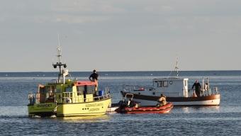 Båt på grund vid Lundåkra