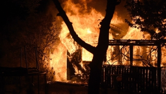 Brand i kolonistuga på Kopparhögarna