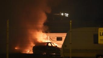 Bilbrand inne på KVD