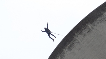 BASE jump från vattentornet
