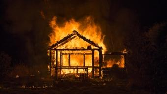 Kolonistuga brann på Kopparhögarna