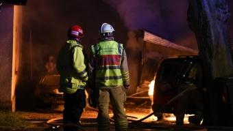 Garagebrand hotade villa