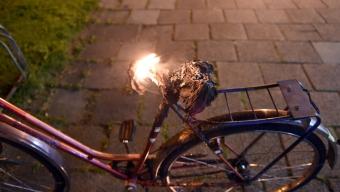 Cykelbrand på Sandvången