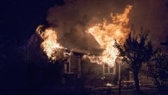 Kolonistuga brann på Larvi