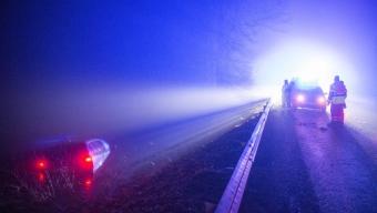 Bil åkte ner i Finnstorpsdammarna