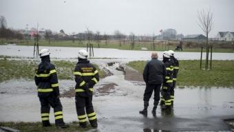 Damm översvämmad i Rydebäck