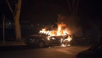 Bilbrand utanför Svalöv