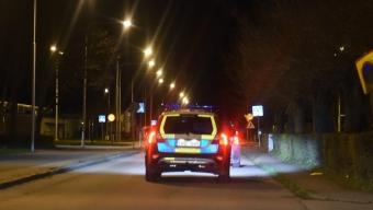 Polispådrag på Norrestad