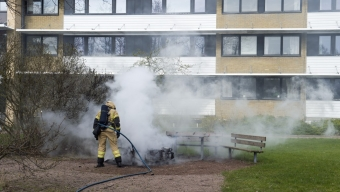 Mopedbrand på Emaljgatan