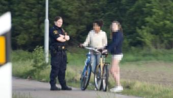 Cyklade på motorvägen