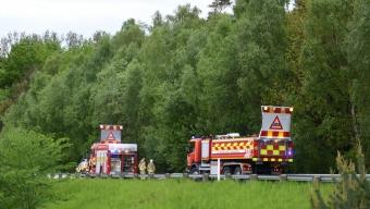 Brand i Saxtorpsskogen