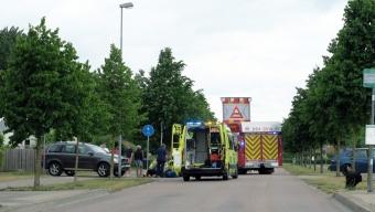 Äldre man på permobil omkom i trafikolycka