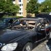 Bil exploderade på Koppargården