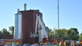 Brand på industri i Kågeröd