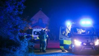 Flera medvetslösa hittade i villa