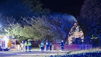 Villabrand vid Barsebäckshamn