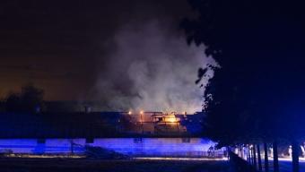 Ladugårdsbrand utanför Eslöv