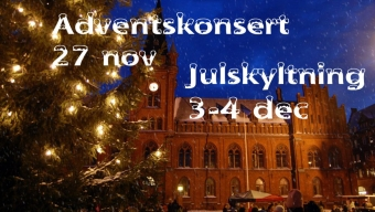 Dags för adventskonsert & julskyltning