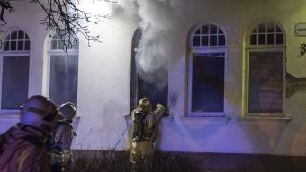 Misstänkt anlagd brand på Anniegården