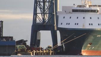 Skadades när fartygsvåning rasade