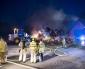 Brand i halmbalar utanför Billesholm