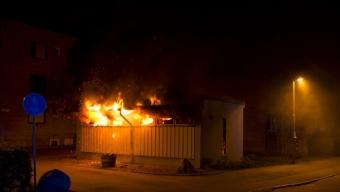 Brand i sophus på Pilängsrundeln