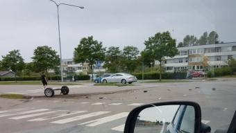 Biljakt tog slut vid Pilängsrundeln