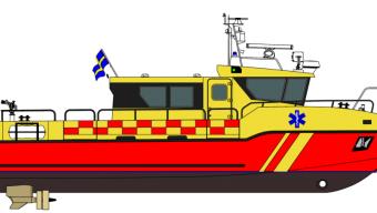 Första bilden på nya räddningsbåten