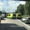 Lastbilsolycka på E6 vid Lundåkra