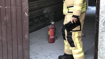Pulver från släckare orsakade brandlarm