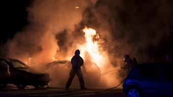 Bilbrand på Löpargatan