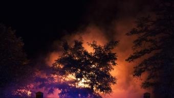 Kraftig villabrand i Tågarp