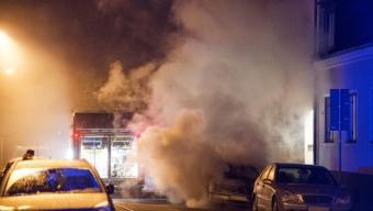 Bilbrand på Vasagatan