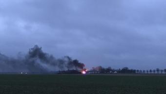 Kraftig brand på Loarps gård