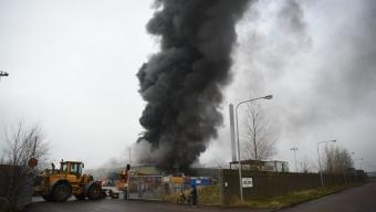Storbrand på Boliden Bergsöe