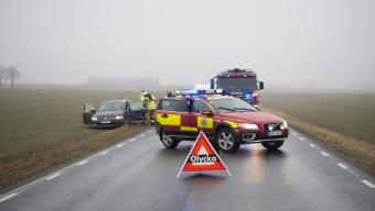 En till sjukhus efter trafikolycka på Tullstorpsvägen