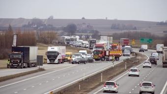 E6: Långa köer efter olycka