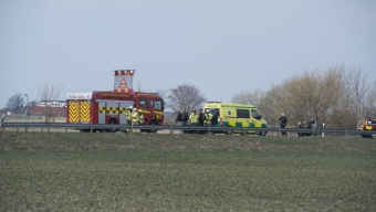 E6: Mc-olycka i höjd med Örja kyrkby