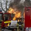 BILDEXTRA: Kraftig villabrand i Dösjebro