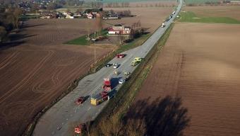 Trafikolycka på v17 vid Asmundtorp